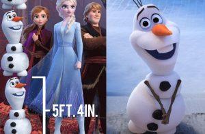 Frozen 2: Fans enloquecen con la altura real de Olaf