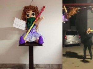 Abogados rompen piñata feminista e indignan en redes sociales
