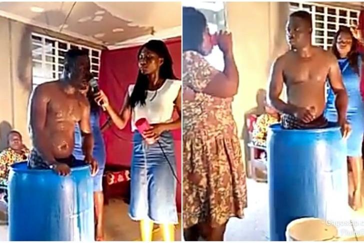 Pastor hizo que sus seguidores se tomaran el agua donde se bañó