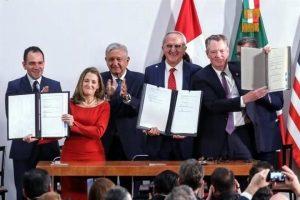 México, Estados Unidos y Canadá  firman cambios al T-MEC