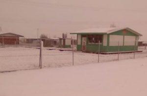 Sorprende nevada en Galeana, Nuevo León