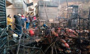 Más de 800 comerciantes afectados por incendio en La Merced