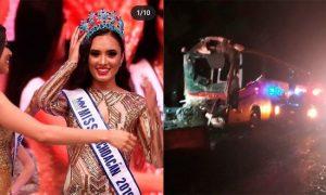 Miss Michoacán, entre heridos tras accidente de autobús