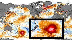 Se forma inmensa burbuja caliente en el océano Pacífico