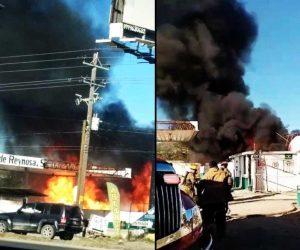 Se registra explosión en gasera de Reynosa