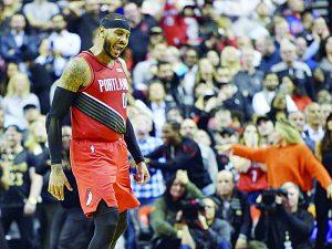 Da Carmelo triunfo a Portland