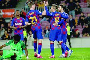 Con dos dianas de Lionel Messi incluidas, el Leganés es vapuleado por Barcelona