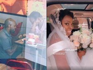Se rieron de ellos por comprometerse en KFC, pero su boda fue de cuento