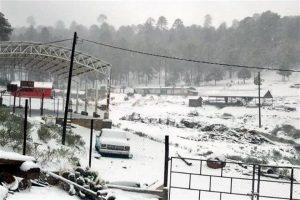 Cae nieve en 9 municipios de Durango