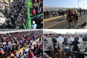 Intenta caravana cruzar a México; refuerza GN cerco