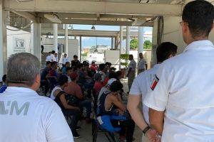 Arriban migrantes a Puente Internacional