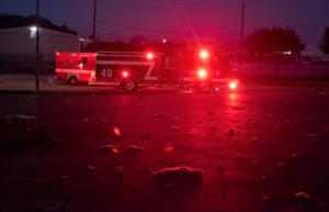 El momento exacto de la explosión que sacudió Houston, Texas y provocó una lluvia de escombros