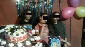 'La Sicaria', niña festeja su cumpleaños con temática de narcotráfico