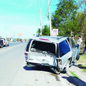 Paisano herido en accidente