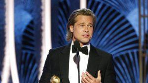 Brad Pitt se ríe del final de Titanic en los Globos de Oro