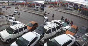 VIDEO MUY FUERTE: Un conductor ignora semáforo y atropella a un hombre en Chihuahua