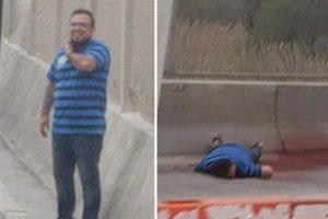 Circula video de hombre que se degüella en el puente