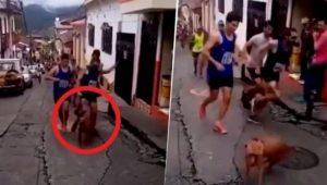 VIDEO: Corredor patea a perro durante carrera; recibe dura sanción