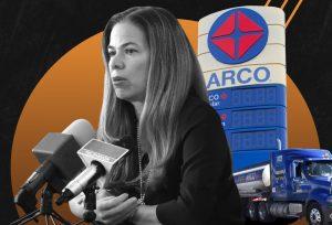Desde el poder, Alejandra de la Vega va por el mercado gasolinero en Cd. Juárez