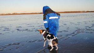 VIDEO: Salta un estanque helado para rescatar a su perro