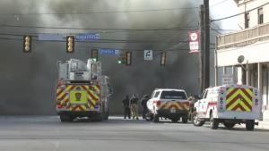 Incendio masivo en Centro de San Antonio