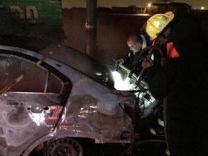Accidente deja un calcinado en Nuevo Laredo (fotos)