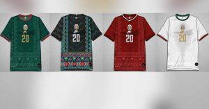 Diseñador fusiona players del Tri con trajes zapotecas