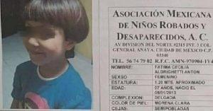 Fátima, una niña que esperaba a mamá; desaparece y la encuentran sin vida