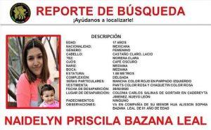 Desaparece joven y su bebé en Nuevo León