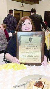 Premia Sertoma  larga labor de  Alma Rosa Luján