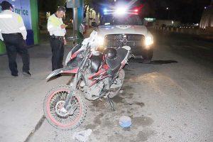 Matan a motociclista