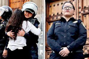 Policía: el abrazo me dio aliento