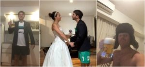 VIRAL: Pareja celebra boda en 'distanciamiento social' por COVID-19