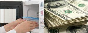 Quema 450 dólares al intentar desinfectarlos en microondas por miedo al coronavirus