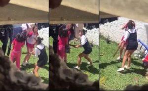 Captan momento en que mujer golpea a sus hijas; DIF interviene y se las lleva