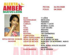 Alerta Amber en Monterrey: desaparece menor de 11 años