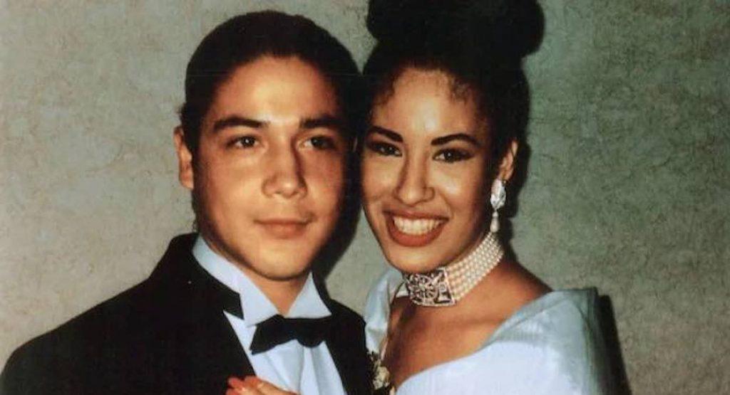 Selena Quintanilla y su esposo quien era parte de su grupo musical