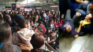 Graban estampida humana en Metro de la ciudad de México (VIDEO)