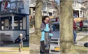 Vecinos hacen 'fiesta de distanciamiento social'