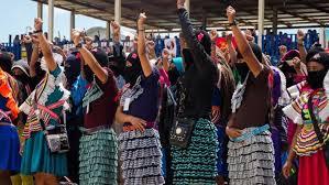 Se unen mujeres Zapatistas a paro nacional