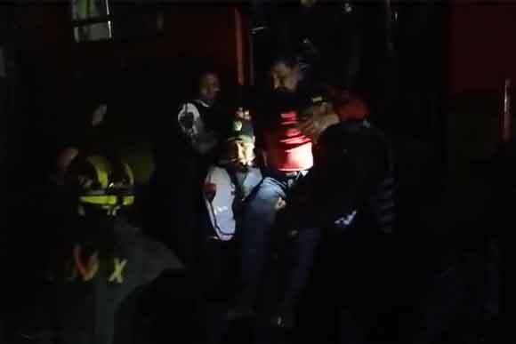 Gente quedó atrapada tras choque de trenes del metro Tacubaya