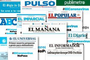 #ElCoronavirusNoPasa; prensa de México se une