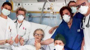 Italiana de 95 años supera el coronavirus y se convierte en símbolo de la resistencia
