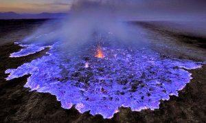 El volcán azul uno de los lugares mas hermosos del planeta