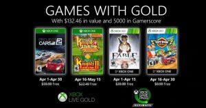Estos juegos llegarán gratis a Xbox Live Gold en abril