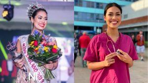Miss Inglaterra ejerce de nuevo su profesión de doctora ante Covid-19