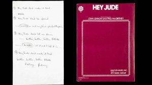 """""""Hey Jude"""": Pagan 910 mil dólares por manuscrito original de McCartney"""
