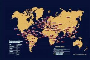 Covid-19: Busca SRE repatriar 2 mil 830 mexicanos varados