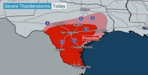 Emiten alerta por tormentas en el centro y sur de Texas