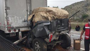 Carambola en carretera a Saltillo; fallecen dos personas